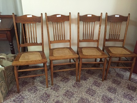4 cane chairs