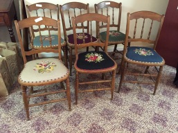 needlepoint chairs